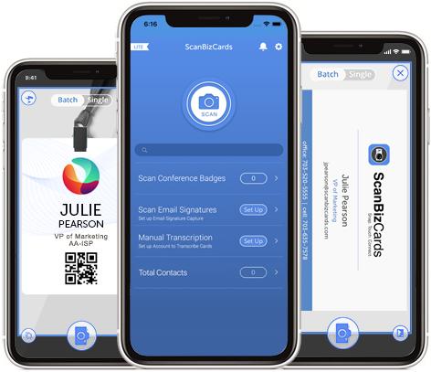 ScanBizCards: Conference Badge & Business Card Scanner App